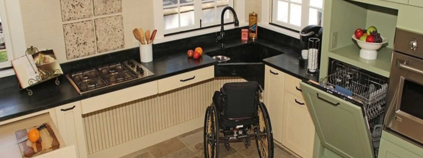 Wheelchair accessible kitchen tables appliances ideas for Wheelchair accessible kitchen ideas