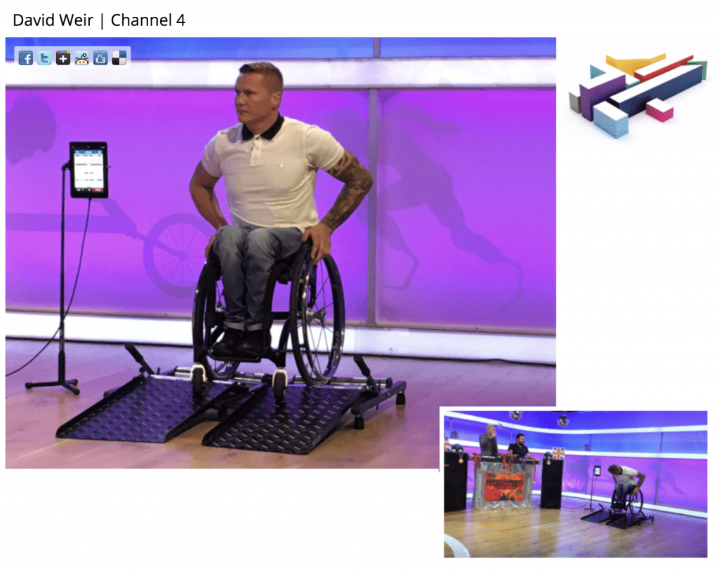 Wheelchair treadmill for exercise users the