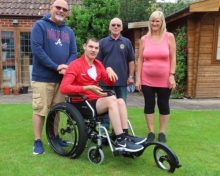 Life changing beach wheelchair given to family