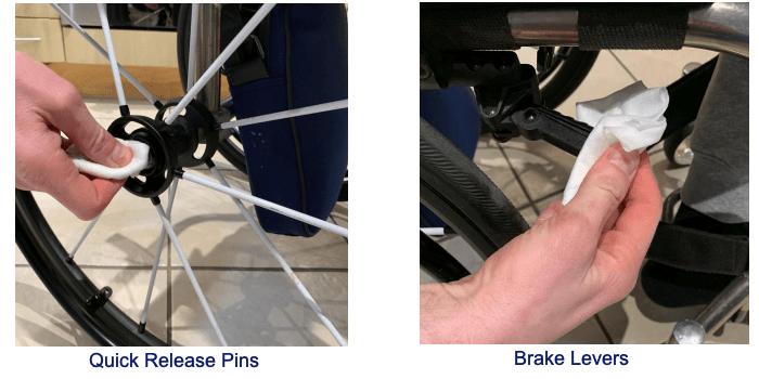 Clean Brakes Wheelchair