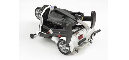 Mobility scooter folds up compact for the car boot.
