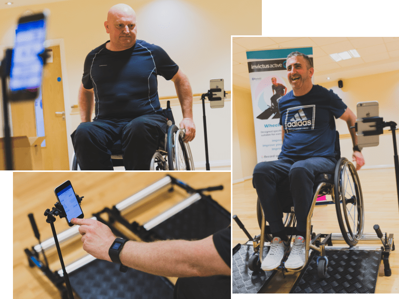 Fitness equipment wheelchair users