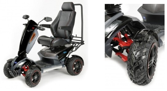 Off road mobility scooter