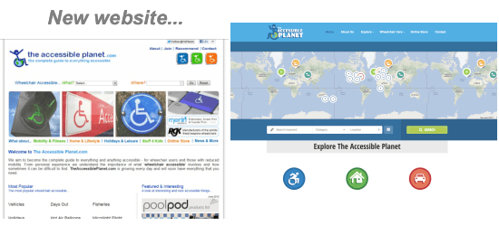 New The Accessible Planet wesbite