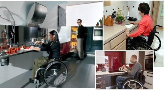 Wheelchair Kitchens with are accessible.